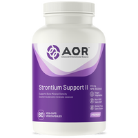 AOR Strontium Support ll, 60 Vegetable Capsules | NutriFarm.ca