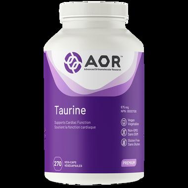 AOR Taurine, 270 Vegetable Capsules | NutriFarm.ca
