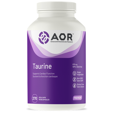 AOR Taurine, 270 Vegetable Capsules | NutriFarm.ca