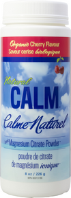 Natural Calm Magnesium Cherry, 226 g (8 oz) | NutriFarm.ca