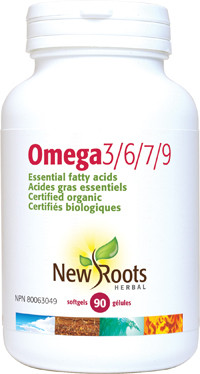 New Roots Omega 3/6/7/9, 90 Softgels | NutriFarm.ca