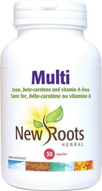 New Roots Multi, 30 Capsules   NutriFarm.ca