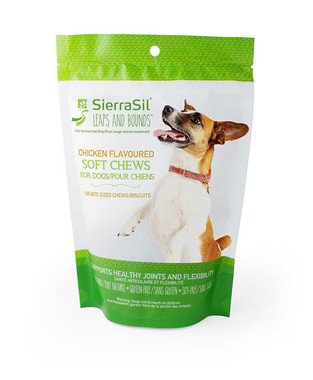 SierraSil Soft Chews For Dogs Chicken Flavour, 100 bite sized chews | NutriFarm.ca