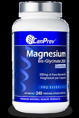 CanPrev Magnesium BisGlycinate 200 Gentle, 240 Vcaps   NutriFarm.ca