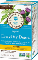 Traditional Medicinals Organic Lemon Everyday Detox, 20 bags | NutriFarm.ca