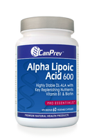 CanPrev Alpha Lipoic Acid 600 mg, 60 Vegetable Capsules | NutriFarm.ca