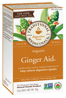 Traditional Medicinals Organic Ginger Aid, 20 bags | NutriFarm.ca