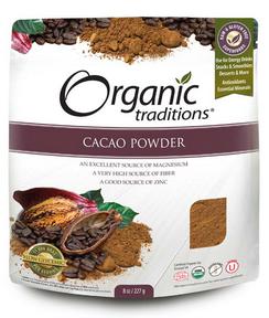 Organic Traditions Cacao powder, 227 g | NutriFarm.ca