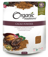Organic Traditions Cacao powder, 454 g | NutriFarm.ca