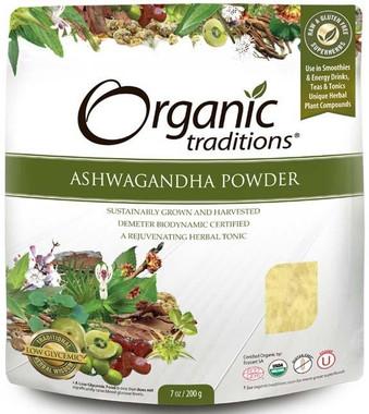 Organic Traditions Ashwagandha Powder, 200 g   NutriFarm.ca