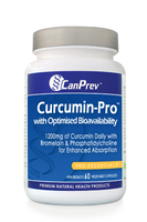 CanPrev Curcumin-Pro With Optimised Bioavailability 1200 mg, 60 Vegetable Caps | NutriFarm.ca