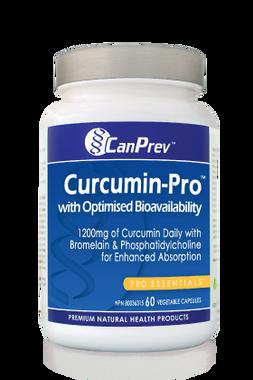 CanPrev Curcumin-Pro With Optimised Bioavailability 1200 mg, 60 Vegetable Caps | NutriFarm.ca