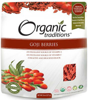 Organic Traditions Goji Berries, 227 g | NutriFarm.ca
