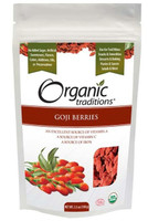 Organic Traditions Goji Berries, 100 g | NutriFarm.ca