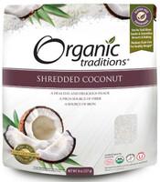 Organic Traditions Shredded Coconut, 227 g | NutriFarm.ca