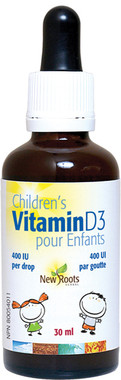 New Roots Children's Vitamin D3, 30 ml | NutriFarm.ca