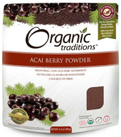 Organic Traditions Freeze Dried Acai Berry Powder, 100 g | NutriFarm.ca