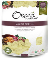Organic Traditions Cacao Butter, 454 g | NutriFarm.ca