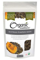 Organic Traditions Austrian Pumpkin Seeds, 100 g | NutriFarm.ca