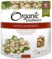 Organic Traditions White Mulberries, 227 g | NutriFarm.ca