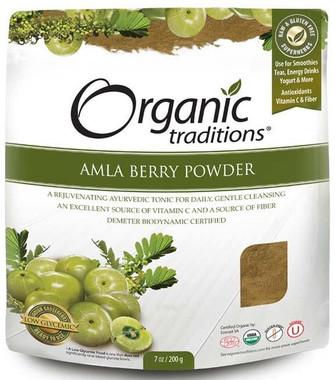 Organic Traditions Amla Powder, 200 g   NutriFarm.ca