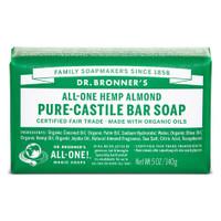 Dr. Bronner's Organic Almond Bar Soap, 140 g | NutriFarm.ca