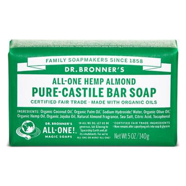Dr. Bronner's Organic Almond Bar Soap, 140 g   NutriFarm.ca