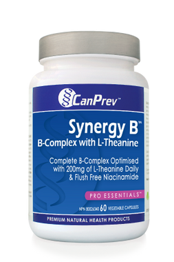 CanPrev Synergy B-Complex with L-Theanine, 60 Vegetable Capsules | NutriFarm.ca