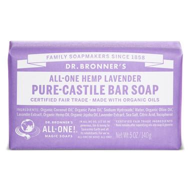 Dr. Bronner's Organic Lavender Bar Soap, 140 g | NutriFarm.ca
