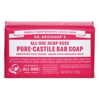 Dr. Bronner's Organic Rose Bar Soap, 140 g | NutriFarm.ca