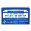 Dr. Bronner's Organic Peppermint Bar Soap, 140 g | NutriFarm.ca