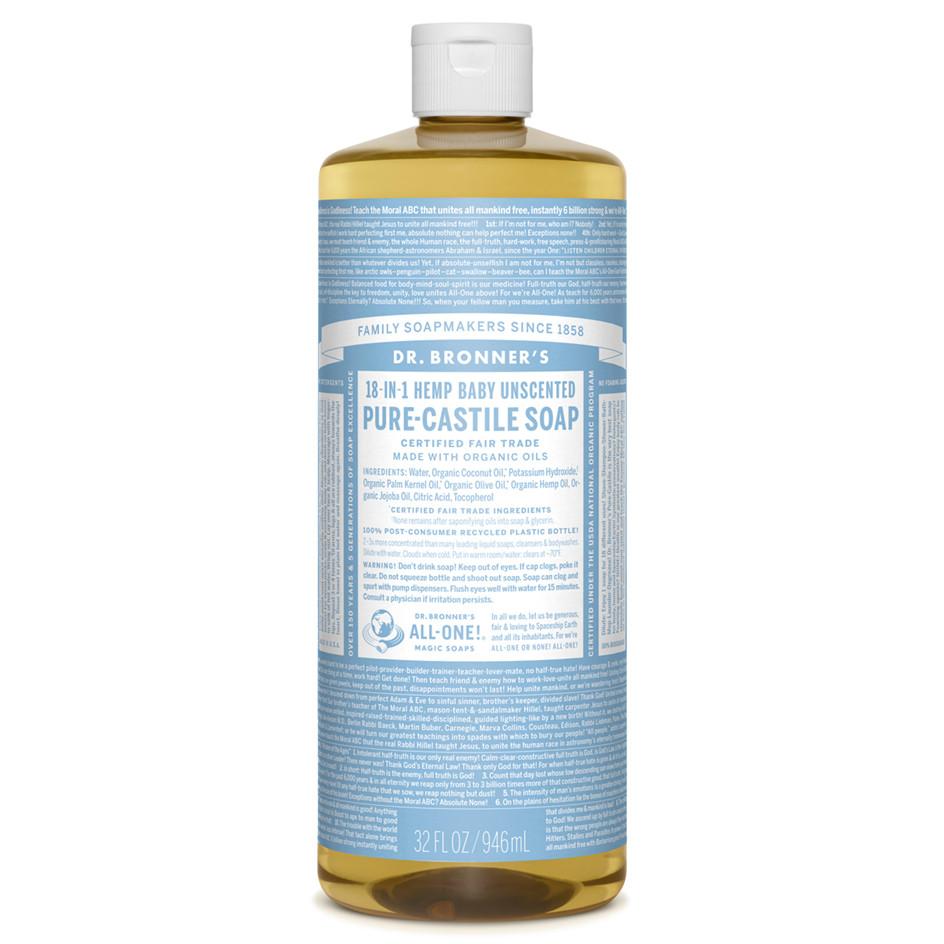 Dr Bronner S Organic Baby Mild Pure Castile Liquid Soap