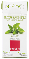 Radius Floss Sachets with Natural Xylitol (Mint), 20 per pack   NutriFarm.ca