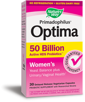 Nature's Way Primadophilus Optima Women's 50 Billion, 30 Vegetable Capsules | NutriFarm.ca