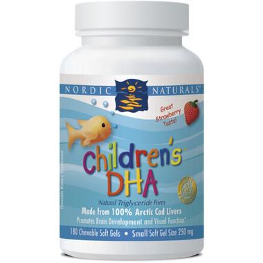Nordic Naturals, Children's DHA Strawberry Flavour, 180 Softgels | NutriFarm.ca