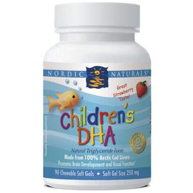 Nordic Naturals, Children's DHA Strawberry Flavour, 90 Softgels | NutriFarm.ca