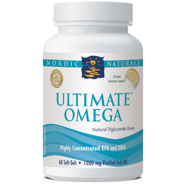 Nordic Naturals Ultimate Omega Lemon Flavour, 60 Softgels | NutriFarm.ca