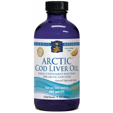 Nordic Naturals Liquid Cod Liver Oil Orange Flavour, 473 ml | NutriFarm.ca