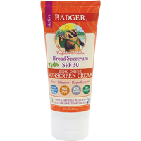 Badger Balms SPF 30 Kids Sunscreen Cream, 87 ml | NutriFarm.ca