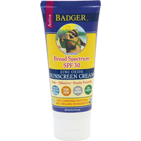 Badger Balms SPF 30 Sunscreen Cream (Lavender), 87 ml | NutriFarm.ca