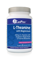 CanPrev L-Theanine With Magnesium, 90 Vegetable Capsules | NutriFarm.ca