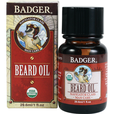 Badger Balms Beard Conditioning Oil, 29.6 ml | NutriFarm.ca