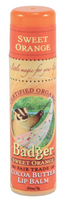 Badger Balms Cocoa Butter Lip Balm (Sweet Orange), 7 g    NutriFarm.ca