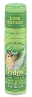 Badger Balms Cocoa Butter Lip Balm (Lime Rocket), 7 g   NutriFarm.ca