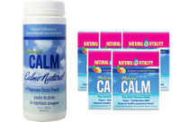 Natural Calm Magnesium Plain, 226 g (8 oz) + 5 Packets FREE | NutriFarm.ca