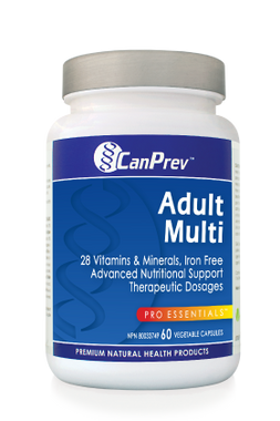 CanPrev Adult Multi, 60 Vegetable Capsules | NutriFarm.ca