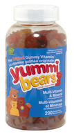 Hero Nutritionals Yummi Bears Multi Vitamin & Minerals, 200 gummi bears | NutriFarm.ca