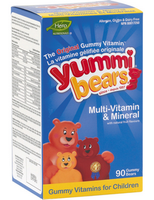 Hero Nutritionals Yummi Bears Multi Vitamin & Minerals, 90 gummi bears | NutriFarm.ca