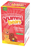 Hero Nutritionals Vegetarian Calcium + Vitamin D, 90 sour gummi bears | NutriFarm.ca