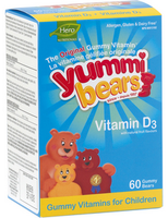 Hero Nutritionals Yummi Bears Vitamin D, 60 gummi bears | NutriFarm.ca